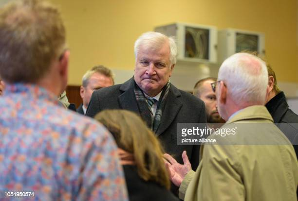 Federal Minister of the Interior Horst Seehofer informs himself during his visit to the state reception centre The Saarland State Reception Centre...