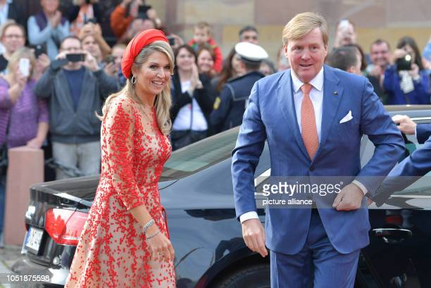 WillemAlexander King of the Netherlands and Queen Maxima come to the State Chancellery The royal couple are visiting Germany for several days Photo...