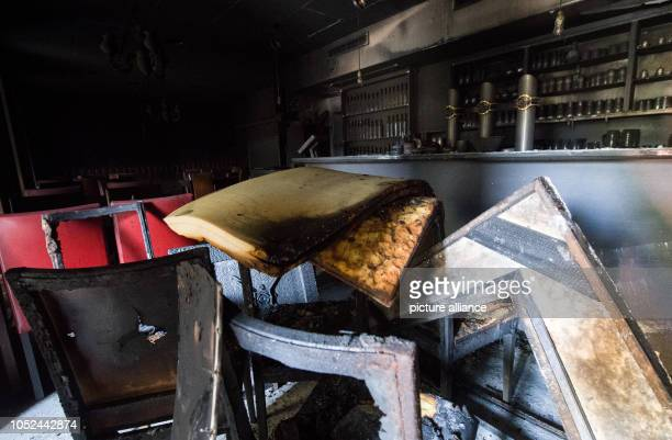 The burnt interior of a Turkish restaurant is located in the charred rooms in Chemnitz Unknown men had set fire to the restaurant that night State...