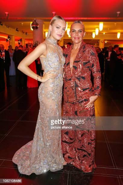 Model Cheyenne Savannah Ochsenknecht and mother Natascha Ochsenknecht as guests at the opening of the Leipzig Opera Ball at the Leipzig Opera Under...
