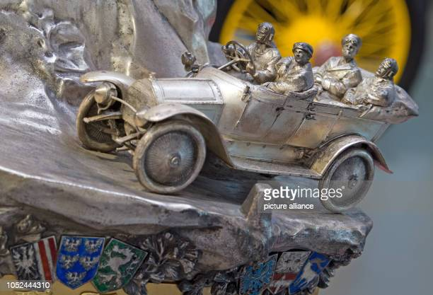 A trophy of the Alpine Hiking Prize which was awarded to the winners of the rally between 1910 and 1914 can be seen during a preview at the August...