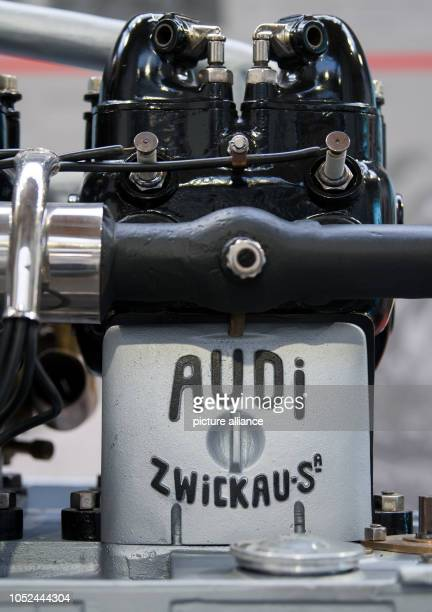 An engine from the legendary 'Alpine winner' Audi Type C with 35 hp can be seen during a preview at the August Horch Museum in Zwickau The automobile...