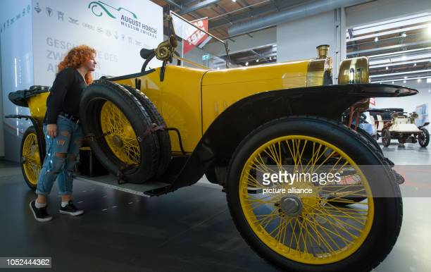 The 'Alpine winner' Audi Type C with 35 hp can be seen during a preview at the August Horch Museum in Zwickau The automobile museum has a special...