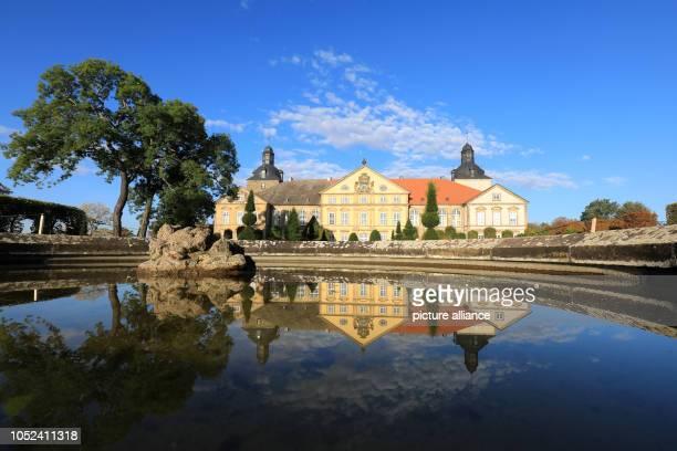 October 2018, Saxony-Anhalt, Hundisburg: Hundisburg Castle, Nature was subordinated to architectural design in the 33-hectare landscape garden. Since...