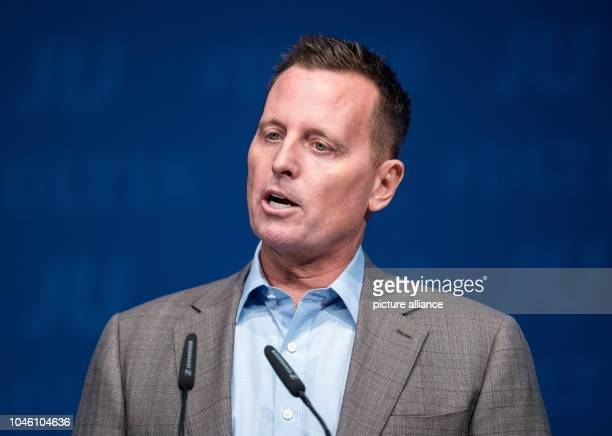 05 October 2018 SchleswigHolstein Kiel Richard Grenell US Ambassador to Germany speaking during the Germany Day of the Young Union Grenell...