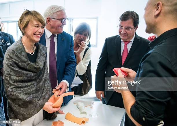Federal President FrankWalter Steinmeier and his wife Elke Büdenbender visit the FUNDECYT science and technology park together with Guillermo...