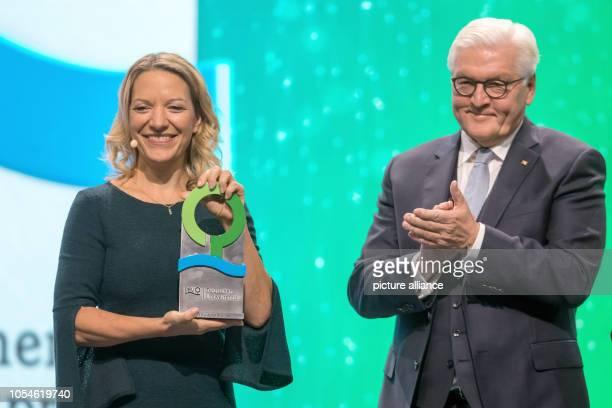 Federal President FrankWalter Steinmeier presents the Environmental Award of the German Federal Environment Foundation to Antje Boetius a marine...