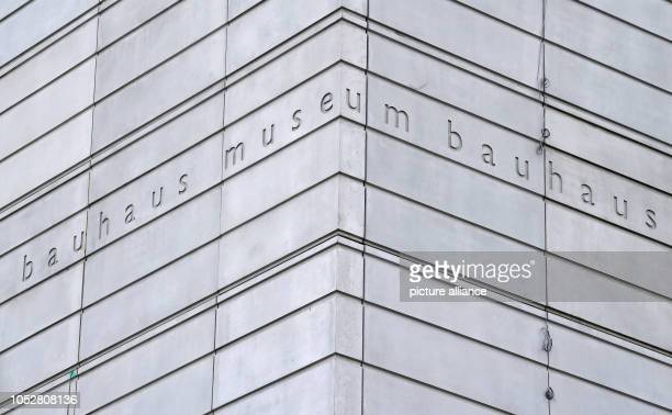 On the facade of the future Bauhaus Museum which is to be opened next year a volume of text entitled bauhaus museum can be read On the same day the...