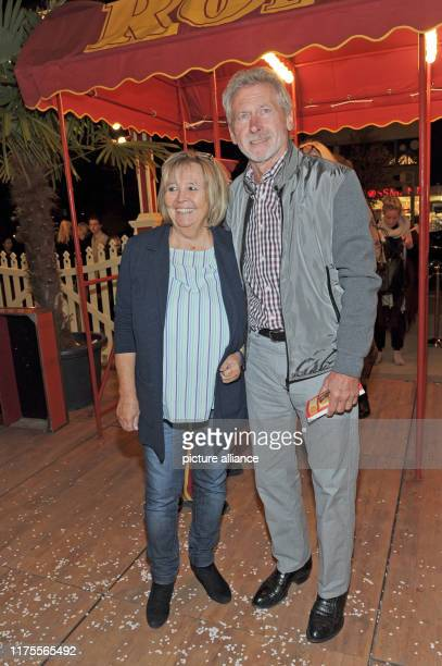 The former professional soccer player Paul Breitner and his wife Hildegard come to the Munich premiere of Storyteller YesterdayTodayMorgen by Circus...