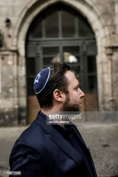 October 2019, Berlin: Mike Samuel Delberg, representative of the Jewish Community of Berlin, stands in front of the New Synagogue in Berlin. After...