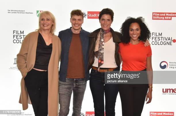 October 2019, North Rhine-Westphalia, Cologne: Actor Alexandra von Schwerin, l-r, Helgi Schmid , Julia Bremermann and Vanessa Rottenburg come to...