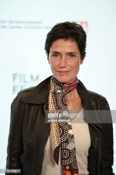 """October 2019, North Rhine-Westphalia, Cologne: The actress Julia Bremermann comes to a screening of the television film """"Die Tote vom Bodensee"""" as..."""