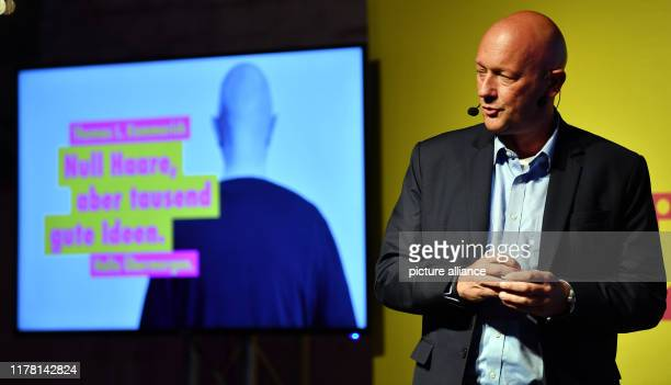 Thomas Kemmerich top candidate of the FDP Thuringia speaks at the end of the election campaign of the party in Erfurt On 27 October a new state...