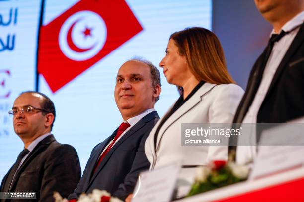 October 2019, Tunisia, Tunis: President of the Independent Higher Authority for Election Nabil Bafoun holds a press conference to the results of a...