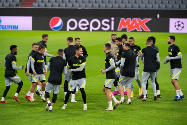 DEU: CL Bayern Munich - Atletico Madrid -Training Madrid