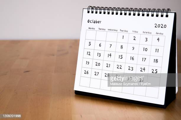 october 2020 calendar - month page - 2020 stock pictures, royalty-free photos & images