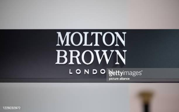 October 2020, Hamburg: The logo of the Molton Brown brand, taken at a Douglas store on Jungfernstieg. Photo: Daniel Reinhardt/dpa