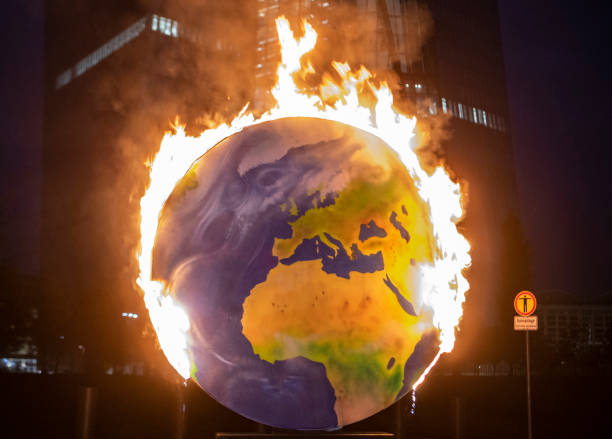 DEU: Protest Against Climate Policy Of The European Central Bank