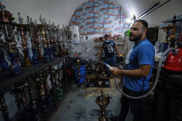 IRQ: Coronavirus - Shisha Smoking In Baghdad