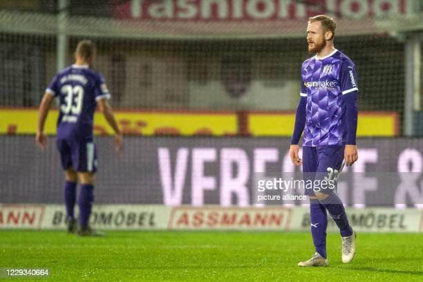 October 2020, Lower Saxony, Osnabrück: Football: 2nd Bundesliga, VfL Osnabrück - Darmstadt 98, 4th matchday, in the stadium at Bremer Brücke....
