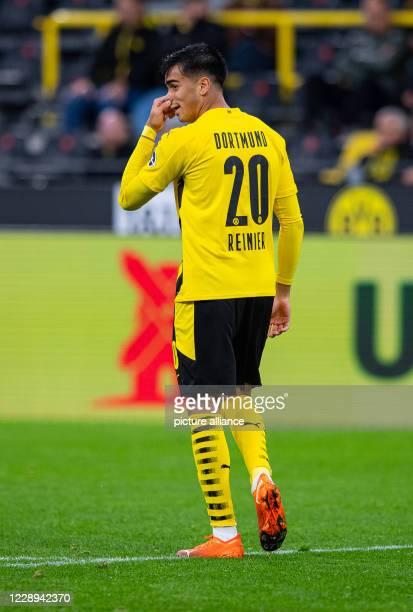 03 October 2020 North RhineWestphalia Dortmund Football Bundesliga Borussia Dortmund SC Freiburg 3rd matchday at Signal Iduna Park Dortmunds Reinier...
