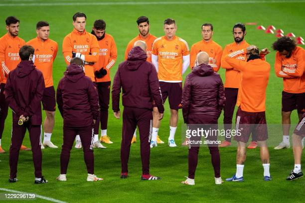 October 2020, North Rhine-Westphalia, Mönchengladbach: Football: Champions League, Borussia Mönchengladbach - Real Madrid, Group stage, Group B,...