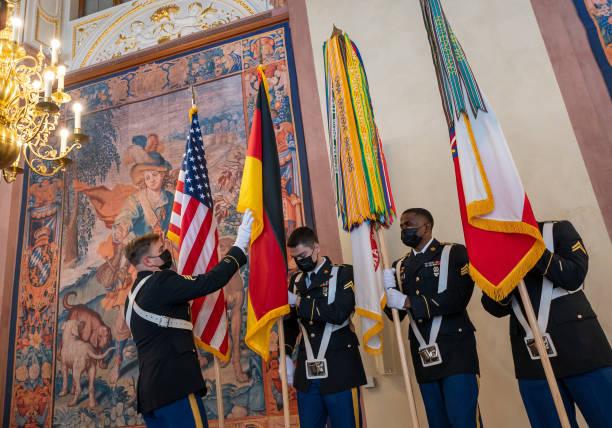 DEU: Award Of The Flag Ribbon To The US Army Europe