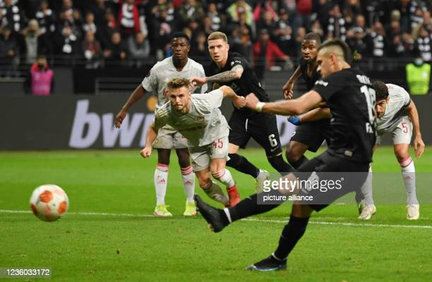 October 2021, Hessen, Frankfurt/M.: Football: Europa League, Eintracht Frankfurt - Olympiakos Piraeus, Group Stage, Group D, Matchday 3, Deutsche...