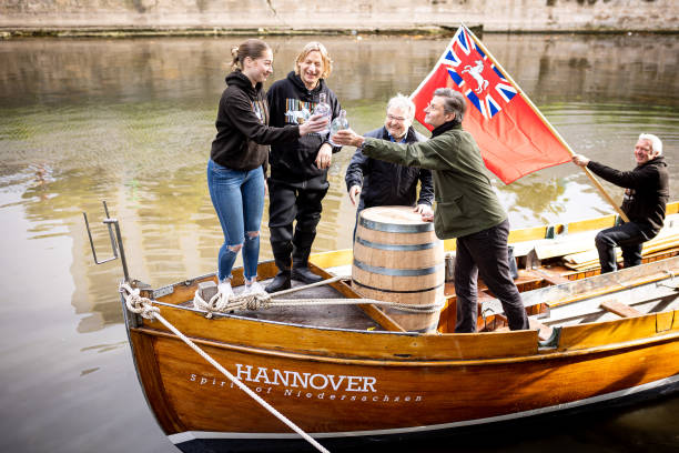 DEU: Gin Barrel Is Rowed And Sailed To Bristol