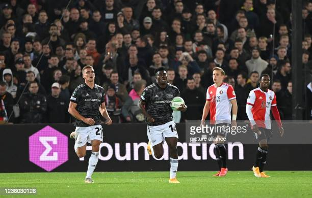 October 2021, Netherlands, Rotterdam: Football: UEFA Europa Conference League, Feyenoord Rotterdam - 1. FC Union Berlin, Group Stage, Group E,...