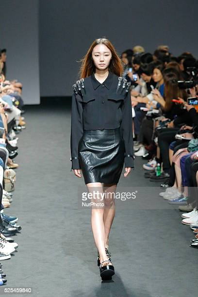 Model catwalk on the runway during the Seoul Fashion Week 2016 KAAL ESUKTAE show at DDP in Seoul South Korea Seoul Fashion Week every march october...