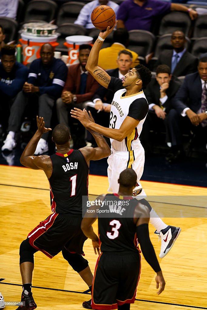 NBA: OCT 23 Preseason - Heat at Pelicans : News Photo