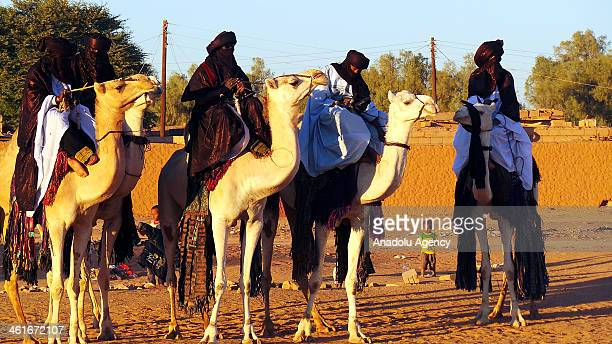 October 24, 2013 dated picture shows the traditional bridal ceremony of Tuaregs, Berber people with a traditionally nomadic pastoralist lifestyle who...