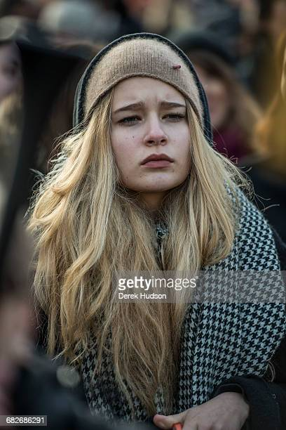 DEMONSTRATION WARSAW POLAND October 24th 2016 Women and men gathered to demonstrate before the parliament building in Warsaw against a proposed law...