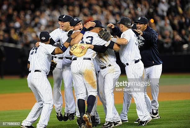 Los Angeles Angels at New York Yankees during Game 6 of the American League Championship Series at Yankee Stadium Bronx NY NY Yankees Alex Rodriguez...