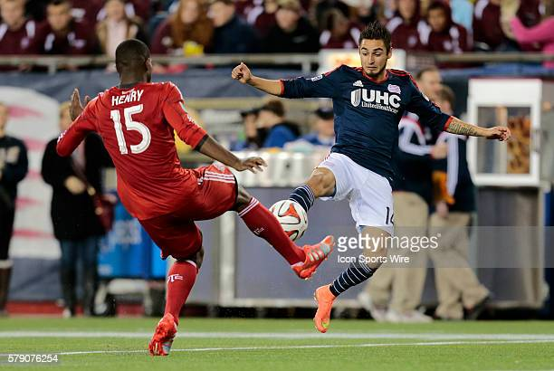 New England Revolution's Diego Fagundez flies in on Toronto FC's Doneil Henry The New England Revolution defeated Toronto FC 10 in a regular season...