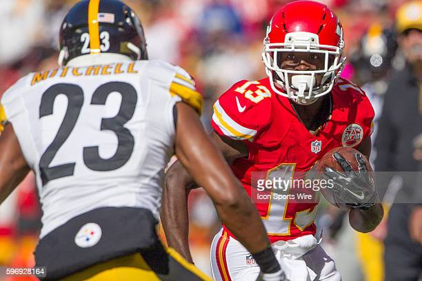 Kansas City Chiefs wide receiver De'Anthony Thomas during the NFL game between the Pittsburgh Steelers and the Kansas City Chiefs at Kauffman Stadium...