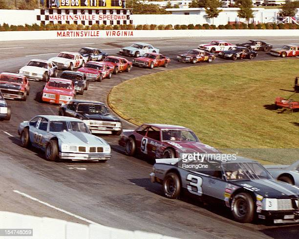 Action during the NASCAR Late Model Sportsman portion of the Cardinal 500 Classic at Martinsville Speedway Among those pictured are Jay Hedgecock...