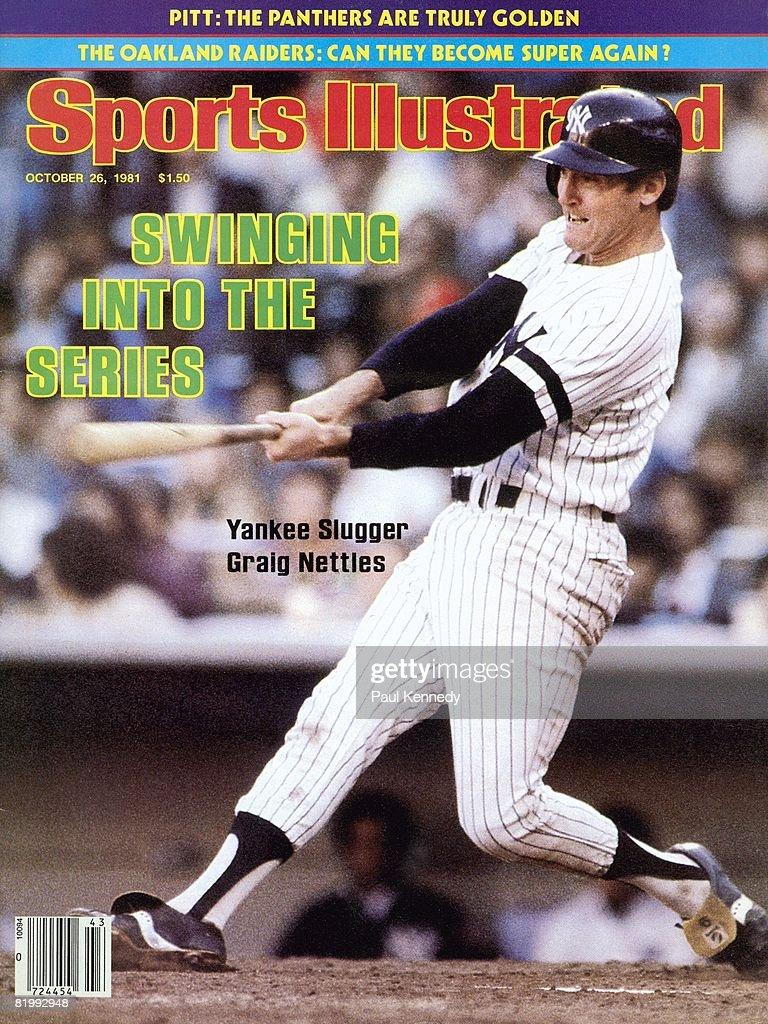 New York Yankees Graig Nettles, 1981 AL Championship Series : News Photo