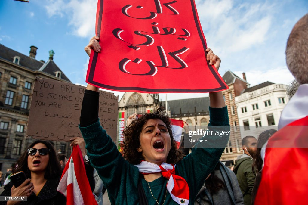 Demonstration In Solidarity With Lebanon In Amsterdam : News Photo