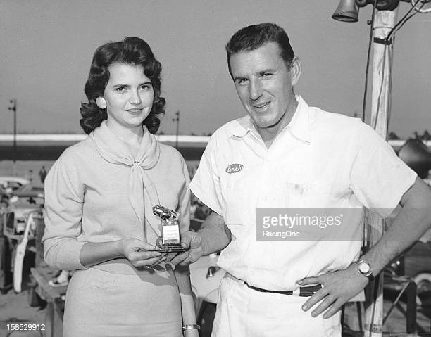 "Although he did not win the race Marvin Panch still got a chance to visit victory lane at the Greensboro Fairgrounds as he was presented a ""special""..."