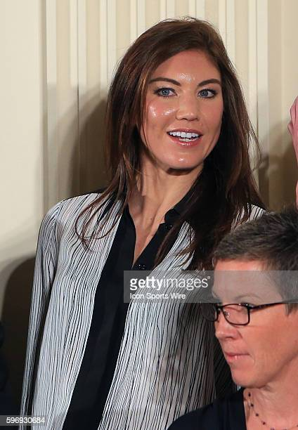 Hope Solo of the USWNT during a visit to the White House where the team was honored by President Obama for their victory in the 2015 FIFA World Cup....