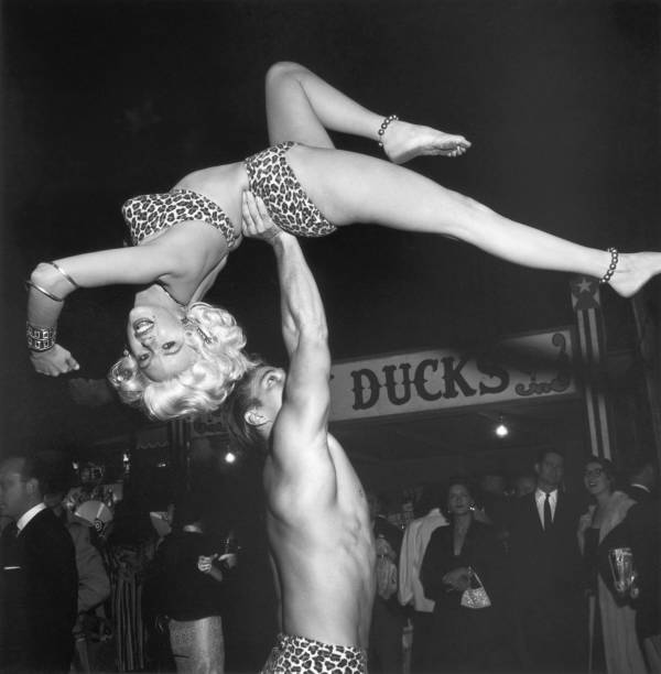 Jayne Mansfield and Mickey Hargitay at a Halloween party