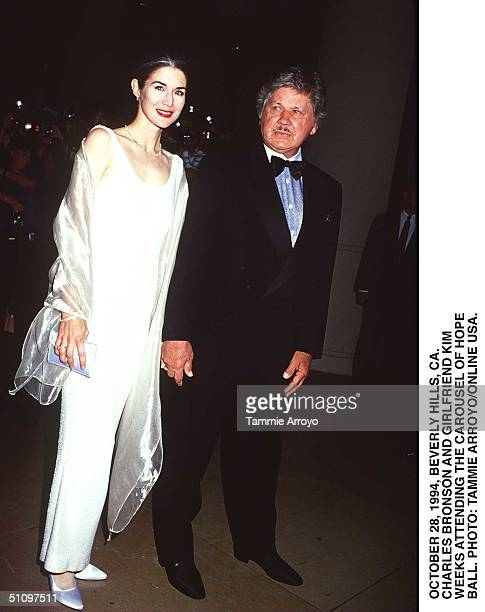 October 28 Beverly Hills, Ca. Charles Bronson & Girlfriend Kim Weeks Arrives At The Carsouel Ball Held At The Beverly Hilton Hotel.