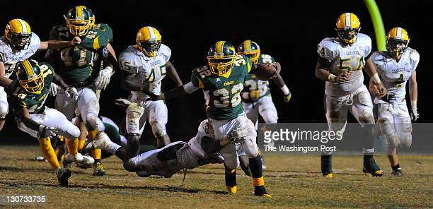 GERMANTOWN MD October 28 Seneca Valley RB James JonesWilliams breaks free for a 3rd quarter 1st down during action against Damascus on October 2011...