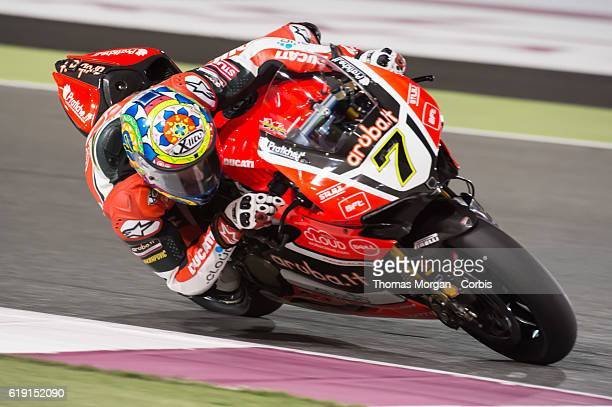 DOHA QATAR October 28th 2016 Losail Circuit Qatar Chaz Davies who rides Ducati for Aruba IT Racing during Free Practice session 1 during the final...