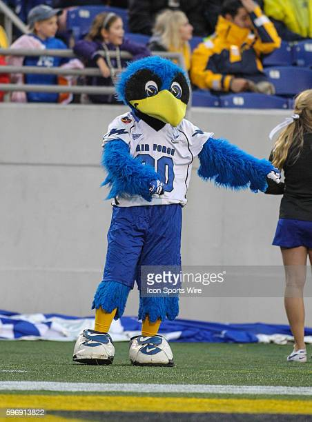 Air Force mascot The Bird during the game between Air Force vs Navy at NavyMarine Corps Memorial Stadium in Annapolis MD
