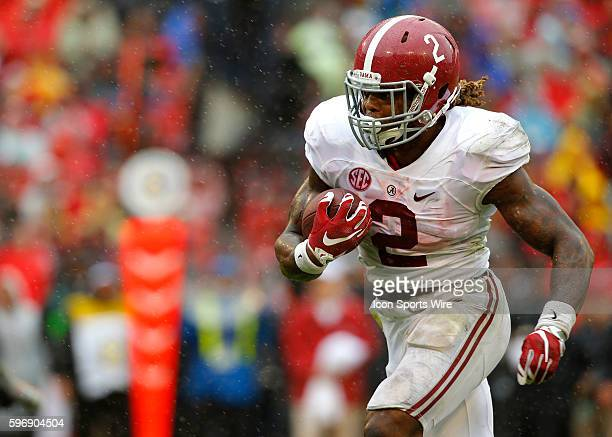 Alabama Crimson Tide running back Derrick Henry rushes for a touchdown in first half action of the Alabama Crimson Tide at Georgia Bulldogs game at...
