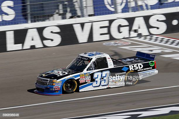 Brandon Jones GMS Racing Chevrolet Silverado during practice for the 19th Annual Rhino Linings 350 NASCAR Camping World Series Truck Race at Las...