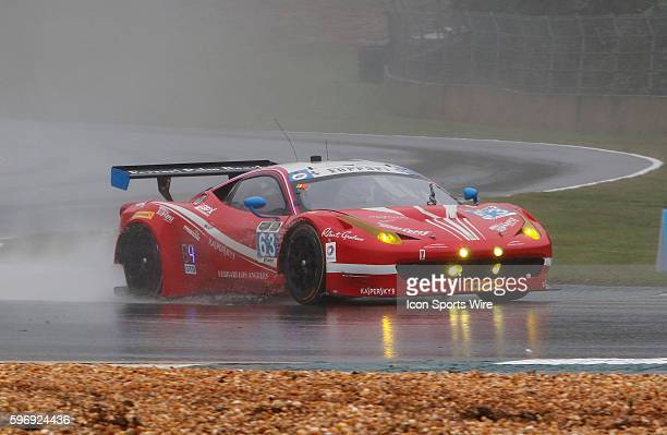 The Ferrari 458 Italia during the Petit Le Mans Powered by Mazda, the season-ending IMSA race in the TUDOR United SportsCar Challenge series held at...